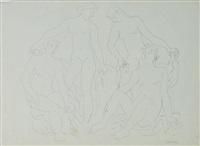 quatre baigneuses by honorio garcia condoy