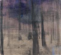 bos met blauw paaltje by tjibbe hooghiemstra