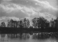 landschaft an der neisse bei görlitz by ewald hoinkis
