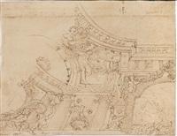studio per decorazione prospettica con gallerie by angelo michele colonna