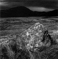 standing stone, prenteg road/drovers' roads wales by fay godwin