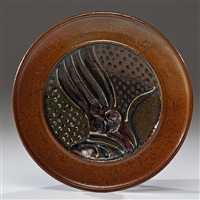 platter with sculpted center by ralph bacerra