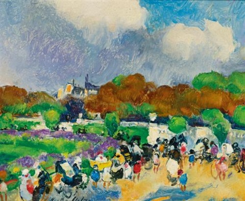 autumn afternoon in the luxembourg garden by martha walter