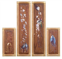 decorative wood panels (+ 3 others; 4 works, various sizes) by george lambert