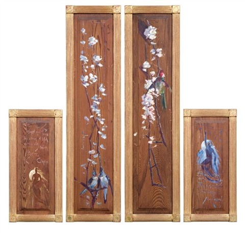 decorative wood panels 3 others 4 works various sizes by george lambert