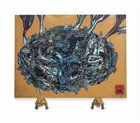 rickshawpolis (3 works) by jitish kallat