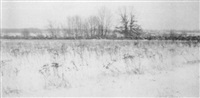 winter landscape by william j. mullins