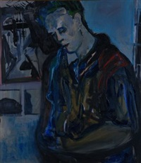 a pensive man by arlene amaler-raviv