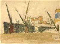 le port d'alicante by maurice le scouézec