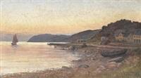 strandmotiv från mölle vid solnedgång by ludvig otto richarde