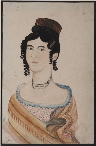 young lady wearing ringlets and tortoiseshell comb in her hair by emily eastman