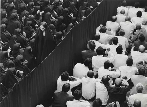 sans titre from fervor seriescrowl from back woman leaving by shirin neshat
