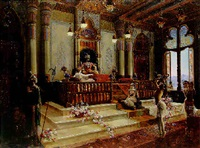 an indian interior by charles albert pesnelle