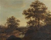 paysage de campagne animé d'un torrent by peter nasmith