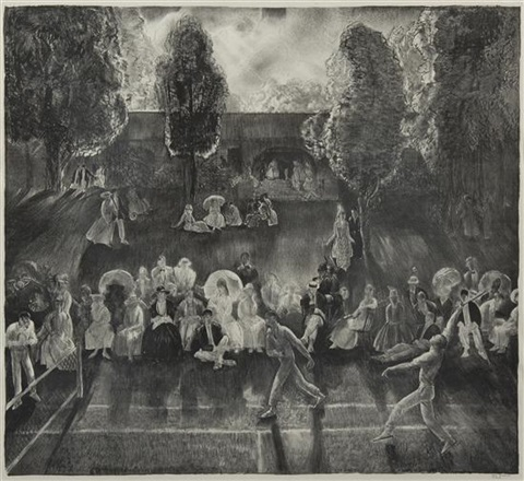 the tournament tennis at newport by george wesley bellows