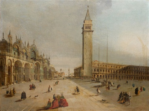 vue de la piazzetta depuis la place saint marc by francesco guardi