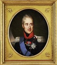 portrait en buste de monsieur, comte d'artois, futur charles x by francois-louis gounod