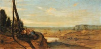 paesaggio con figure by antonio fontanesi