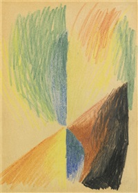 abstrakte formen xiv (abstract forms xiv) by august macke