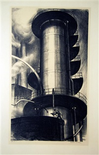 oil refinery no. 1 (+ 5 others; 6 works) by james e. allen