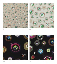 jellyfish eyes / jellyfish eyes cream / jellyfish eyes - black 1 / jellyfish eyes - black 2 by takashi murakami