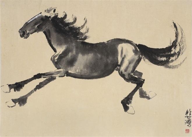 running horse by xu beihong