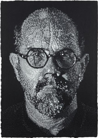 self portrait pulp by chuck close