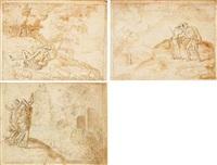 moses and the burning bush by bernard (le petit bernard) salomon