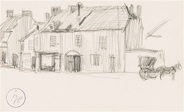 maisons avec cheval et calèche paysages 2 works by henri evenepoel