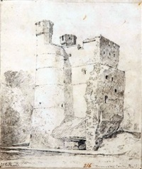 donnington castle, berkshire by john sell cotman