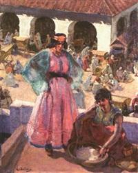 femmes sur la terrasse by eugène benjamin selmy