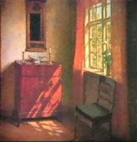 a sunlit interior. by marinus nielsen