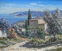maison au bord de la méditerranée by lucien potronat