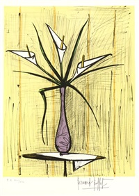 bouquet d'arums by bernard buffet