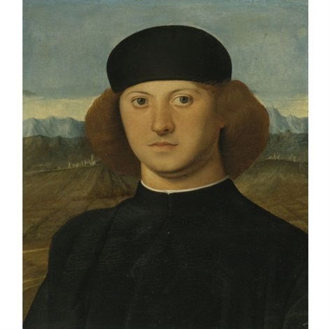 portrait of a young man alvise de franceschi  by marco basaiti