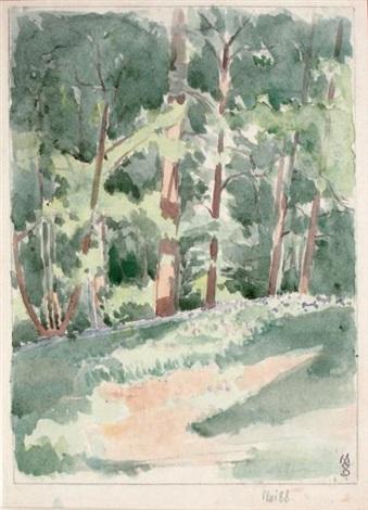 lorée de la forêt et visage recto verso by maurice denis