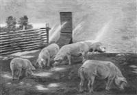 sonniger nachmittag am bauernhof by johannes resen-steenstrup