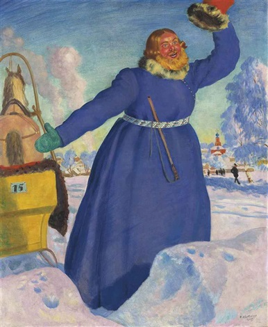 the coachman by boris mikhailovich kustodiev