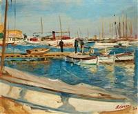 port de cannes by lucien adrion