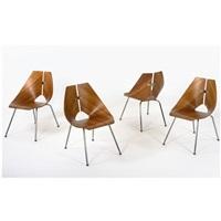 chairs, model no. 939 (set of 4) by ray komai