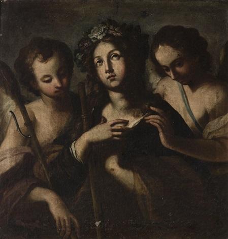 die heilige rosalia und zwei engel by michelangelo merisi da caravaggio