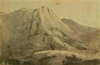 veduta di convento e case in un paesaggio montano by johann wolfgang von goethe