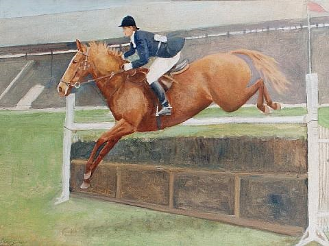 miss pat smythe obe and flanagan by charles walter simpson