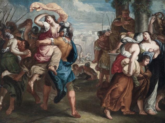 der raub der sabinerinnen by theodor van thulden
