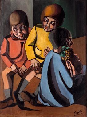 tres niños antonio anita y conchita by ángeles santos