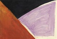 composition in orange, black and purple by rob van koningsbruggen