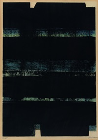 lithographie 32 b by pierre soulages