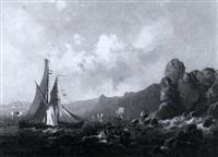 segelschiff (in der bucht von rio de janeiro?) by leon jean-baptiste sabatier