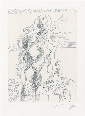 jeune pecheuse by andré masson