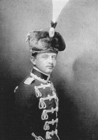 bildnis kaiser karl i. von österreich in preußischer husarenuniform by hermann kosel